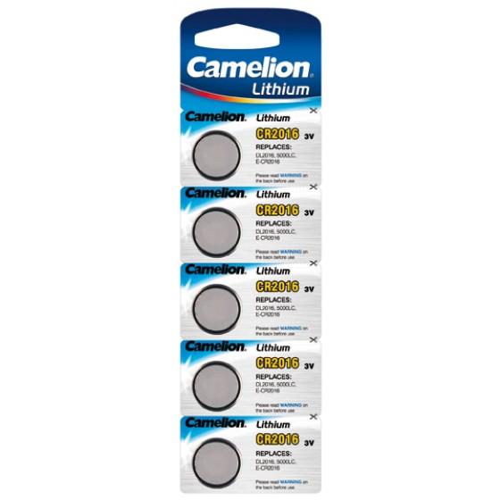 Camelion CR2016 3V Lithium im 5er-Blister