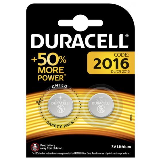 Duracell DL2016 3V Lithium in 2er-Blister