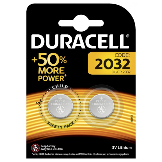 Duracell DL2032 3V Lithium in 2er-Blister
