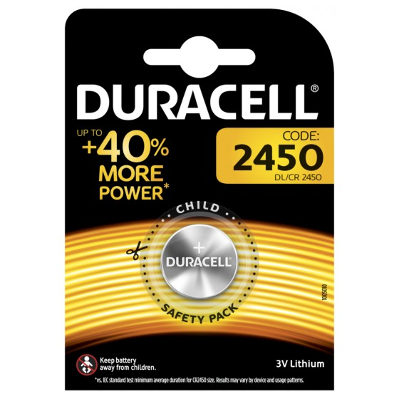 Duracell DL2450 3V Lithium 1er-Blister (groß)