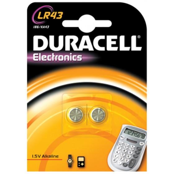 Duracell LR43 in 2er-Blister (groß)  / V12GA/186/L2 42/1142