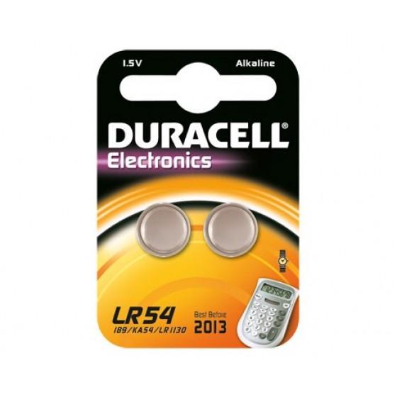Duracell LR54  (V10GA/189/LR1130) in 2er-Blister (groß)