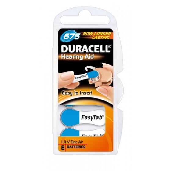 Duracell DA675 (ZL1) Hörgeräte-Knopfzellen Easy Tab 1,4V