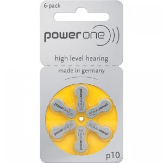 60x POWER ONE 10AE Hörgeräte-Knopfzellen 95mAh