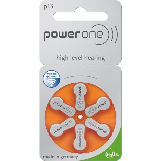 POWER ONE 13AE Hörgeräte-Knopfzellen 300mAh