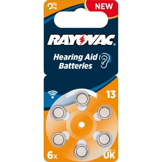 Rayovac 13  ACOUSTIC (ZL2, PR48) Hörgeräteknopfzellen 1,45 V 310mAh