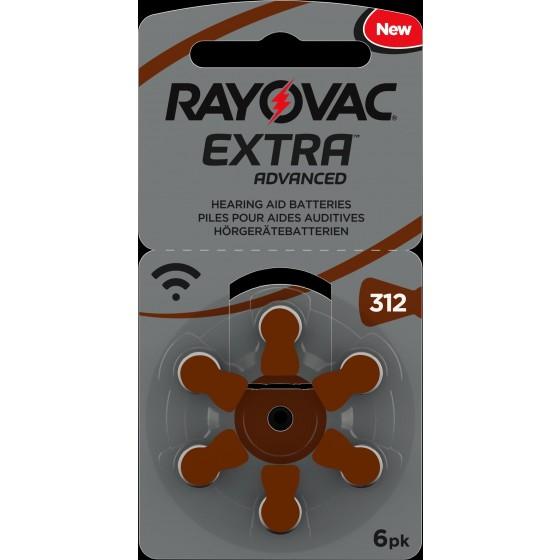 Rayovac 312 EXTRA ADVANCED (ZL3/PR41)  Hörgeräteknopfzellen 1,4V 180mAh