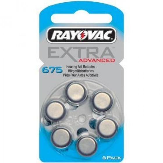 Rayovac 675  EXTRA ADVANCED (ZL1/PR44) Hörgeräteknopfzellen 1,4V 640mAh