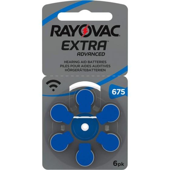 Rayovac 675  EXTRA (ZL1/PR44) Hörgeräteknopfzellen 1,4V 640mAh in 6er-Blister