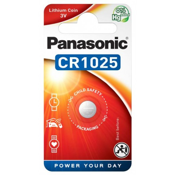 Panasonic CR1025 3V Lithium im 1er-Blister