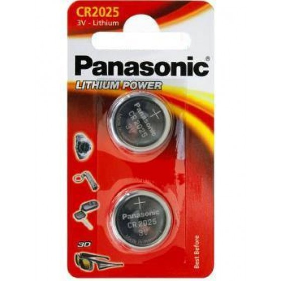 Panasonic CR2025 3V Lithium in 2er-Blister