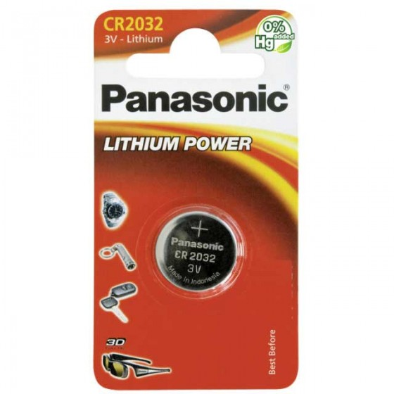 Panasonic CR2032 3V Lithium in 1er-Blister