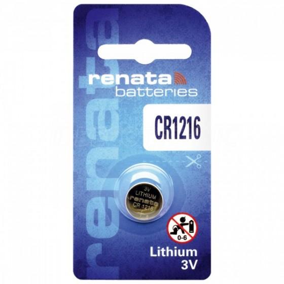 Renata CR1216.CU MFR 3V Lithium in 1er-Blister 30mAh