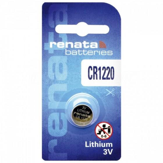 Renata CR1220.CU MFR 3V Lithium in 1er-Blister 40mAh