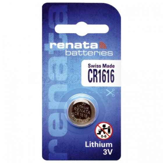 Renata CR1616.CU 3V Lithium in 1er-Blister 50mAh