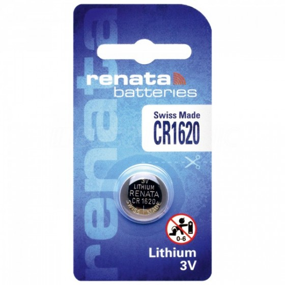 Renata CR1620.CU 3V Lithium in 1er-Blister 68mAh