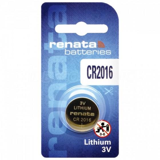 Renata CR2016.CU MFR 3V Lithium in 1er-Blister 90mAh