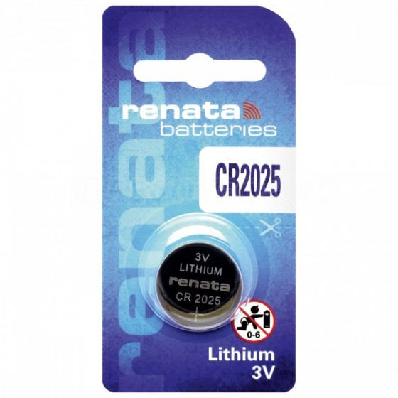 Renata CR2025.CU MFR 3V Lithium in 1er-Blister 165mAh
