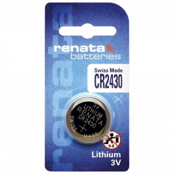 Renata CR2430.CU 3V Lithium in 1er-Blister 285mAh
