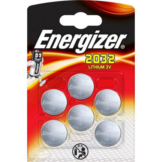 Energizer CR2032 3V Lithium im 6er Blister