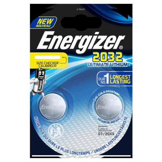 10x Energizer CR2032 3V Ultimate Lithium in 2er-Blister