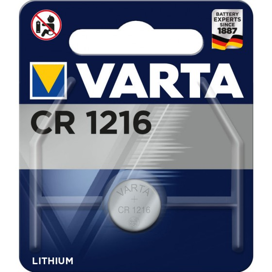 Varta CR1216 6216 101 401 3V Lithium in 1er-Blister