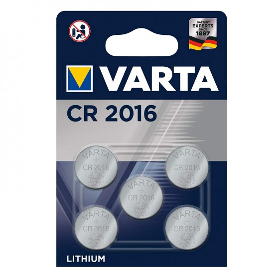 Varta CR2016 6016 101 415 3V Lithium in 5er-Blister 87mAh