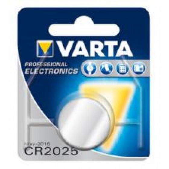 Varta CR2025 6025 101 401 3V Lithium in 1er-Blister 170mAh