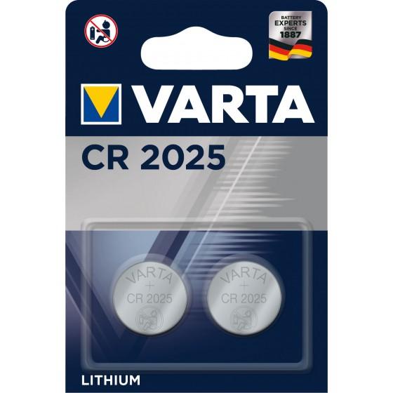 Varta CR2025 6025 101 402 3V Lithium in 2er-Blister 157mAh
