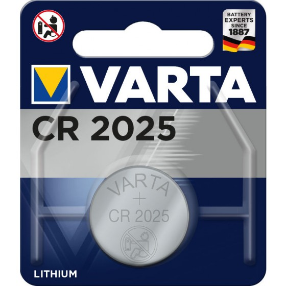 Varta CR2025 6025 101 401 3V Lithium in 1er-Blister 157mAh