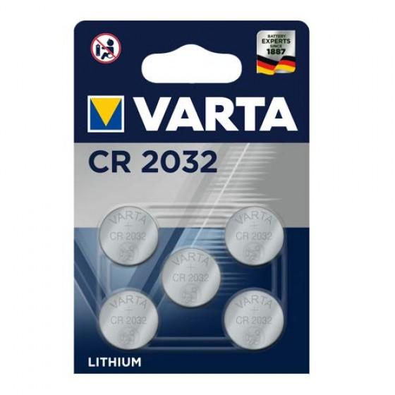 Varta CR2032 6032 101 415 3V Lithium in 5er-Blister 220mAh