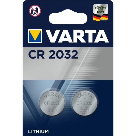 Varta CR2032 6032 101 402 3V Lithium in 2er-Blister 220mAh