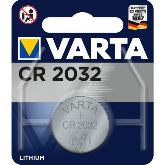 10 x Varta CR 2032 + 1 x Cardiocell LR44