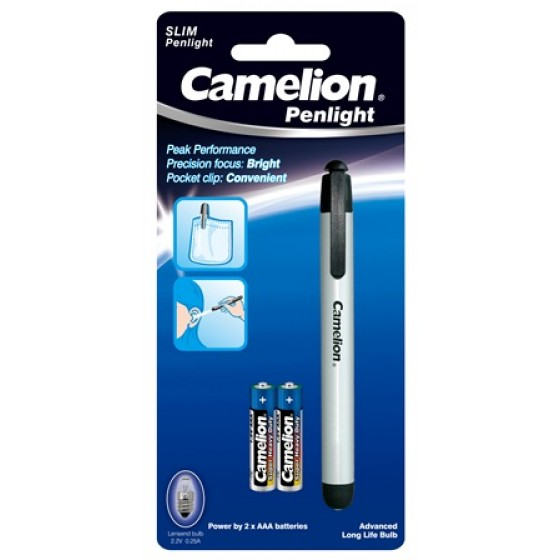 Taschenlampe Camelion DL2AAAS ALUMINIUM Stiftleuchte Penlight inkl. 2xAAA R03