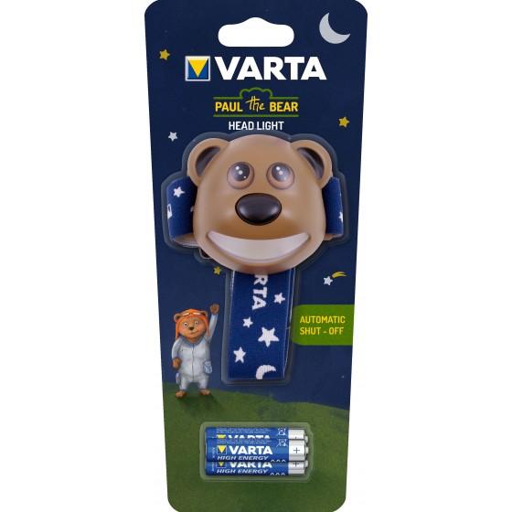 Taschenlampe Varta 17500 Paul the Bear Kinder Kopflampe, inkl. 3x AAA