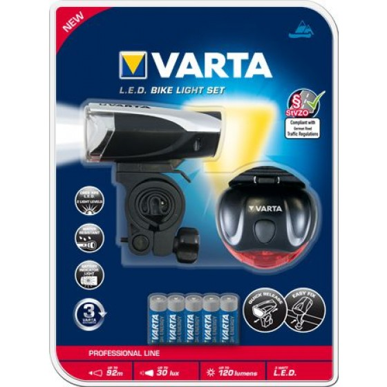 Taschenlampe Varta 18803 Bike Light Set LED inkl. Batterien