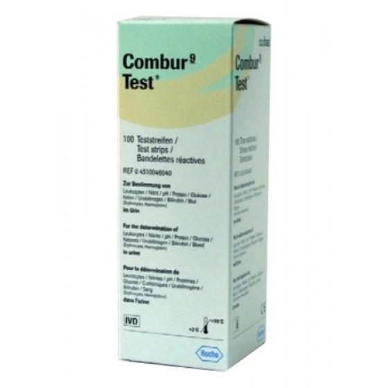 Combur 9 Teststreifen 100 Stück von Roche Diagnostics, Harn- / Urinteststreifen