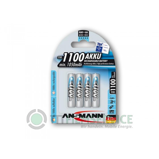 Ansmann Micro-Akku 1100mAh in 4er-Blister Nr. 5035232
