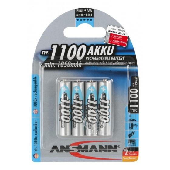 6x Ansmann Micro-Akku 1100mAh