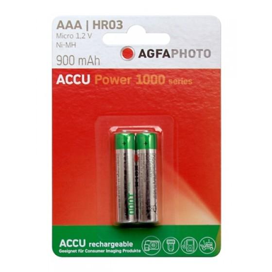 AGFAPHOTO Micro-Akku NiMH 900mAh in 2er-Blister