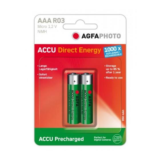 AGFAPHOTO Micro-Akku Direct Energy NiMH 950mAh in 2er-Blister
