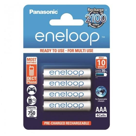 Eneloop Micro Akku BK-4MCCE/4BE 750mAh im 4er-Blister