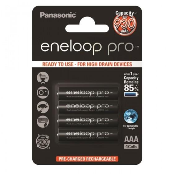 Eneloop Micro Akku Pro BK-4HCDE/4BE AAA 900mAh im 4er-Blister
