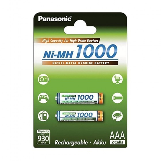 Panasonic Micro-Akku BK-4HGAE High Capacity 1000mAh in 2er-Blister