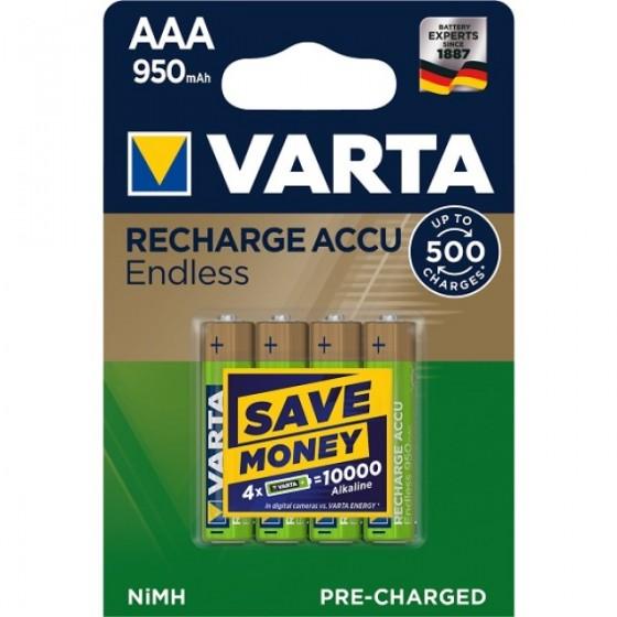 10 x Varta Recharge Accu Endless 56683 950mAh AAA Micro HR03 1,2V Akku
