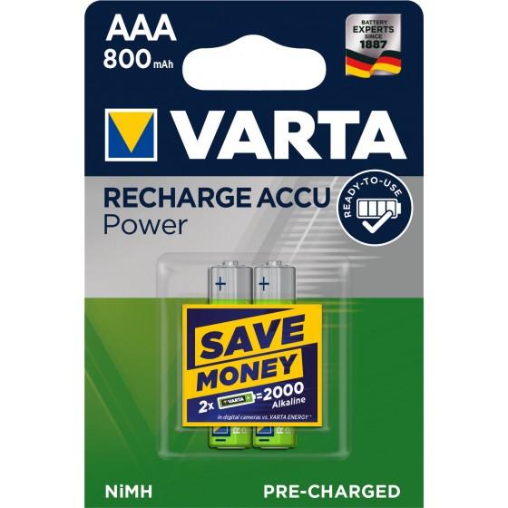Varta Micro Akku 56703 101 402 (800mAh) Ready2use 1,2V in 2er-Blister