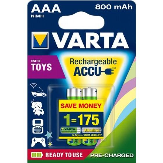 Varta Micro Akku 56783 101 402 (800mAh) Ready2use 1,2V in 2er-Blister