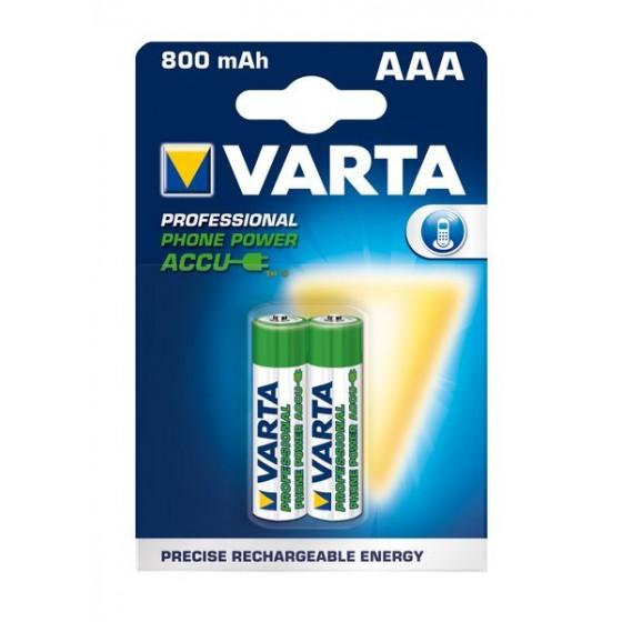 Varta Micro-Akku T398 58398 101 402 PHONE POWER 1,2V (800mAh) in 2er-Blister