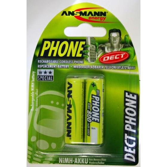 Ansmann Mignon-Akku Dect Phone 800mAh in 2er-Blister NiMH Nr. 5030902