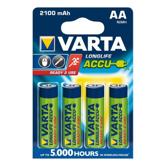 Varta Mignon-Akku 56706 101 404 (2100mAh) 1,2V Ready2use in 4er-Blister